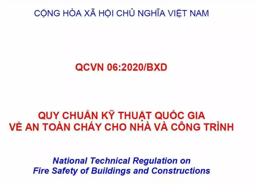 Quy chuẩn QCVN 06 2020/BXD – quy chuẩn kỹ thuật quốc gia về an toàn cháy cho nhà và công trình